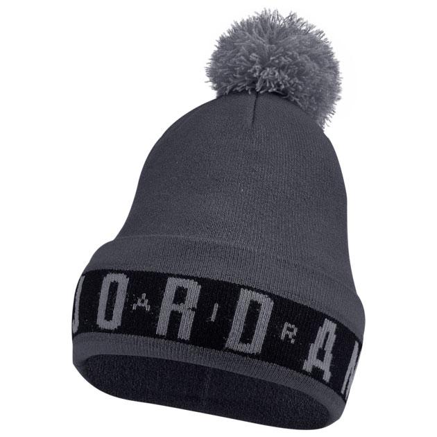 jordan-12-dark-grey-beanie-hat-1