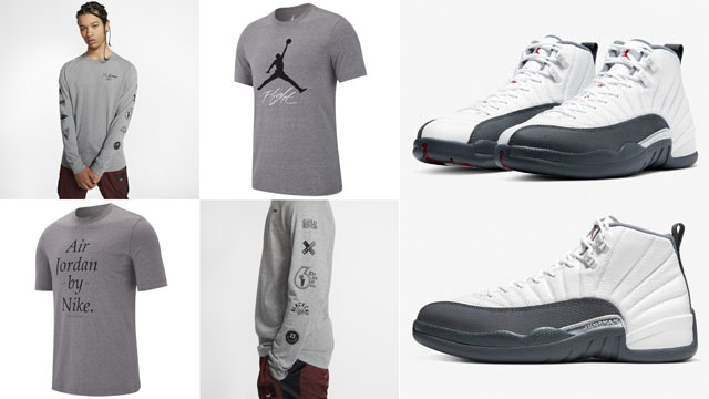 jordan-12-white-dark-grey-tees