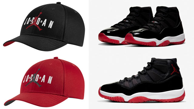 jordan-caps-to-match-bred-jordan-11-retro