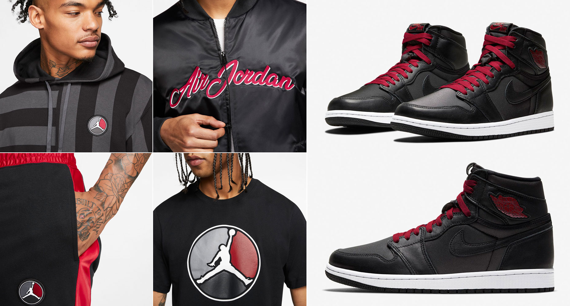 air-jordan-1-black-satin-clothing-match
