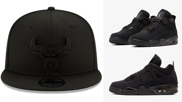 air-jordan-4-black-cat-2020-bulls-caps-to-match