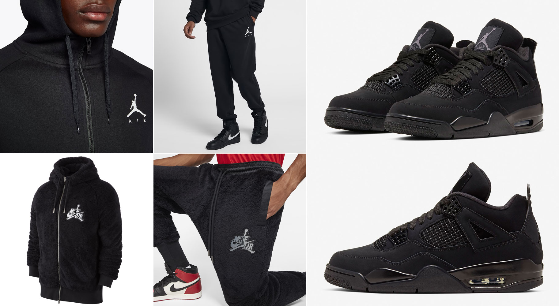 air-jordan-4-black-cat-2020-hoodies-and-jogger-pants
