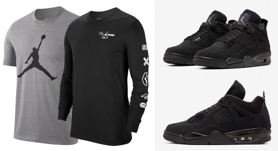 Air Jordan 4 Black Cat 2020 Shirts
