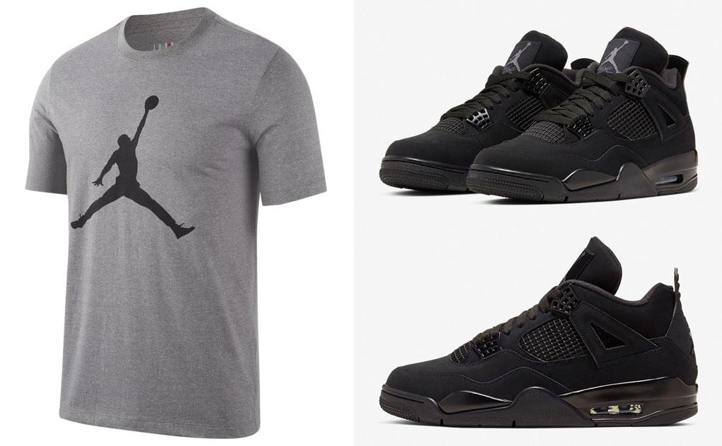 air-jordan-4-black-cat-matching-tee-shirt