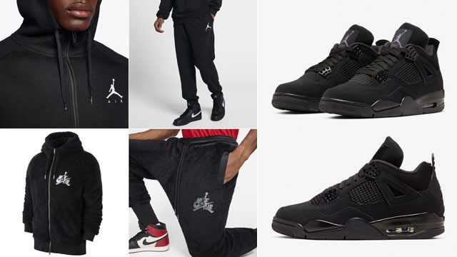black-cat-jordan-4-2020-hoodies-and-pants