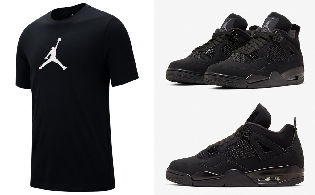 black-cat-jordan-4-shirt-match