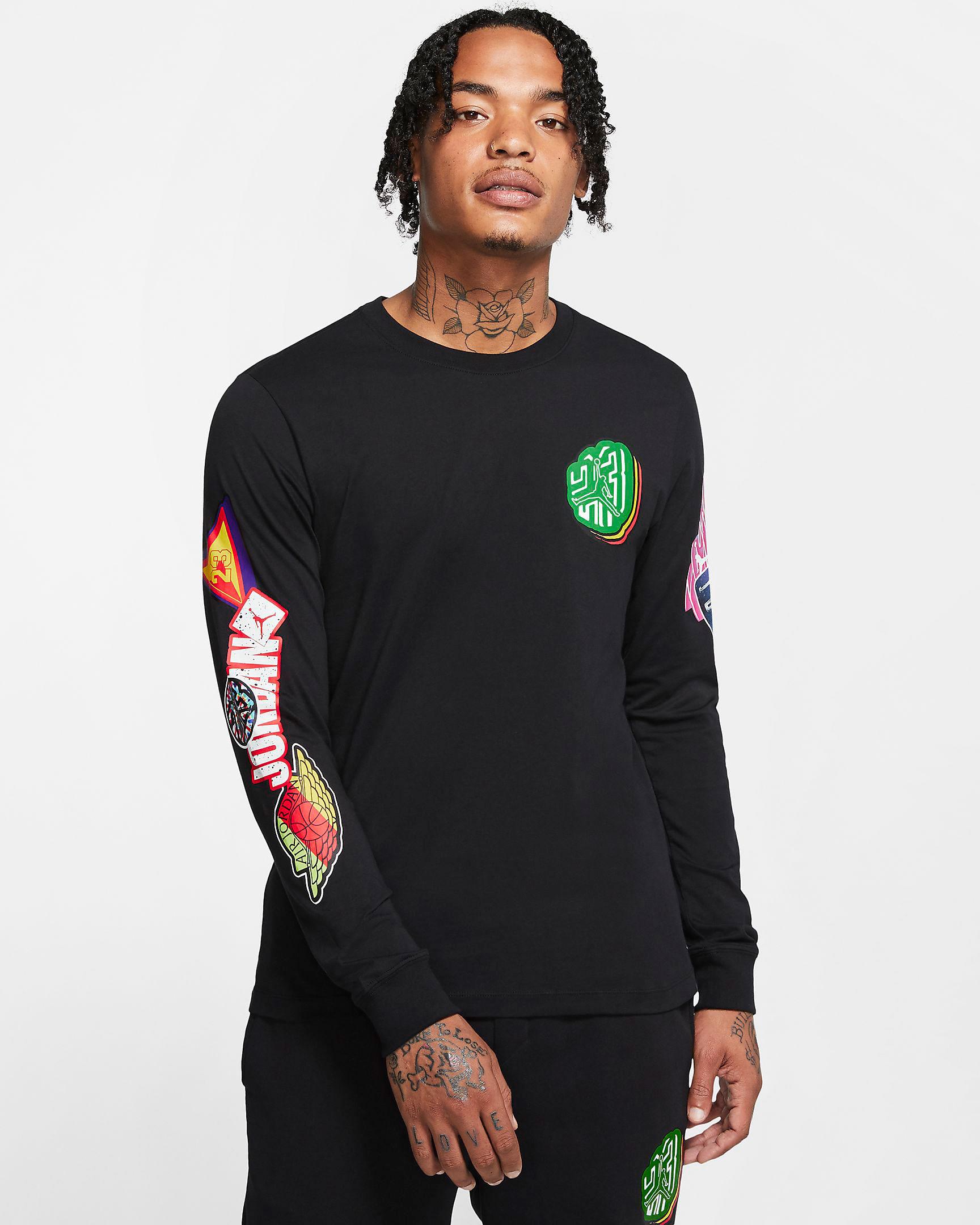 jordan-sticker-long-sleeve-shirt-black-1