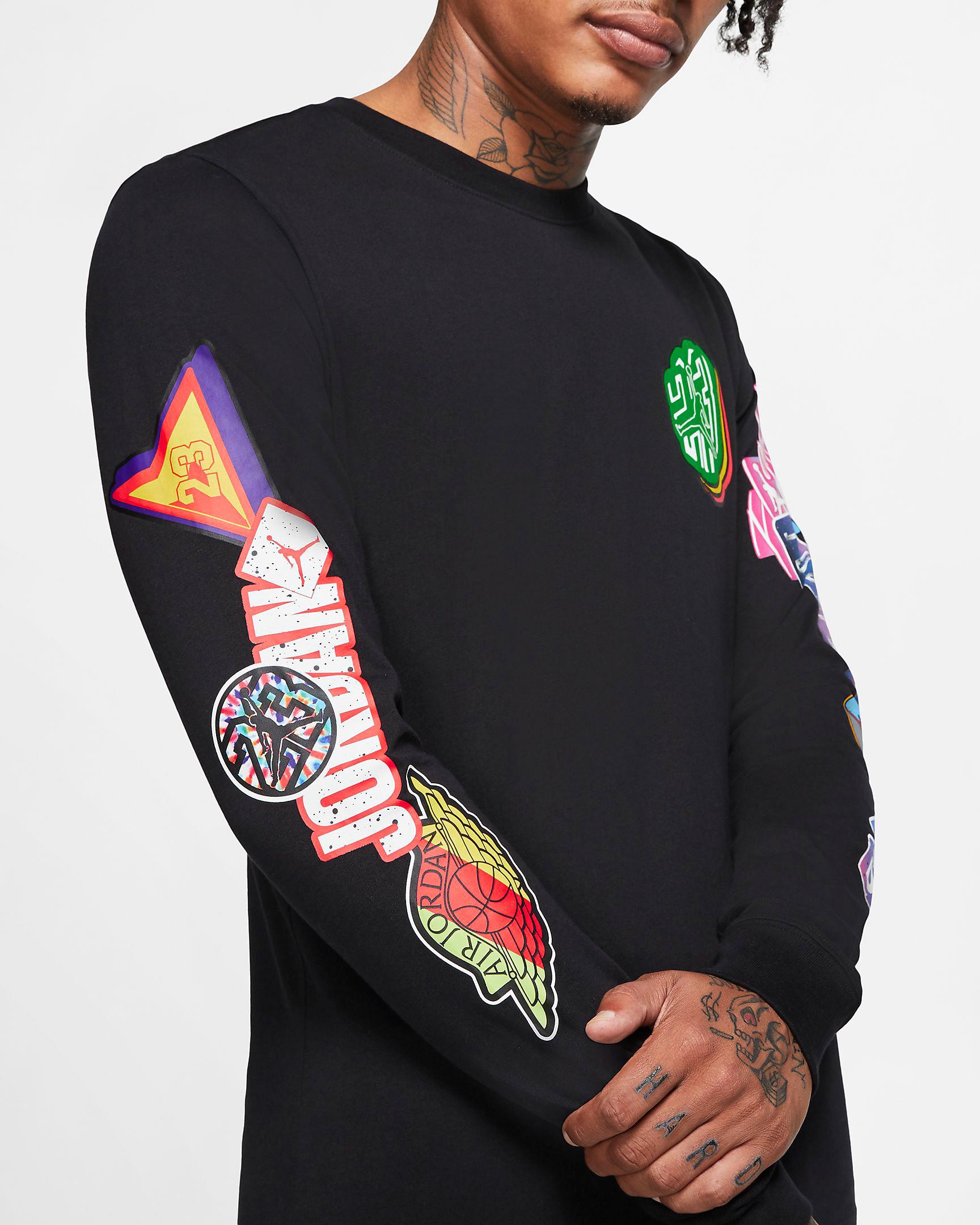 jordan-sticker-long-sleeve-shirt-black-2