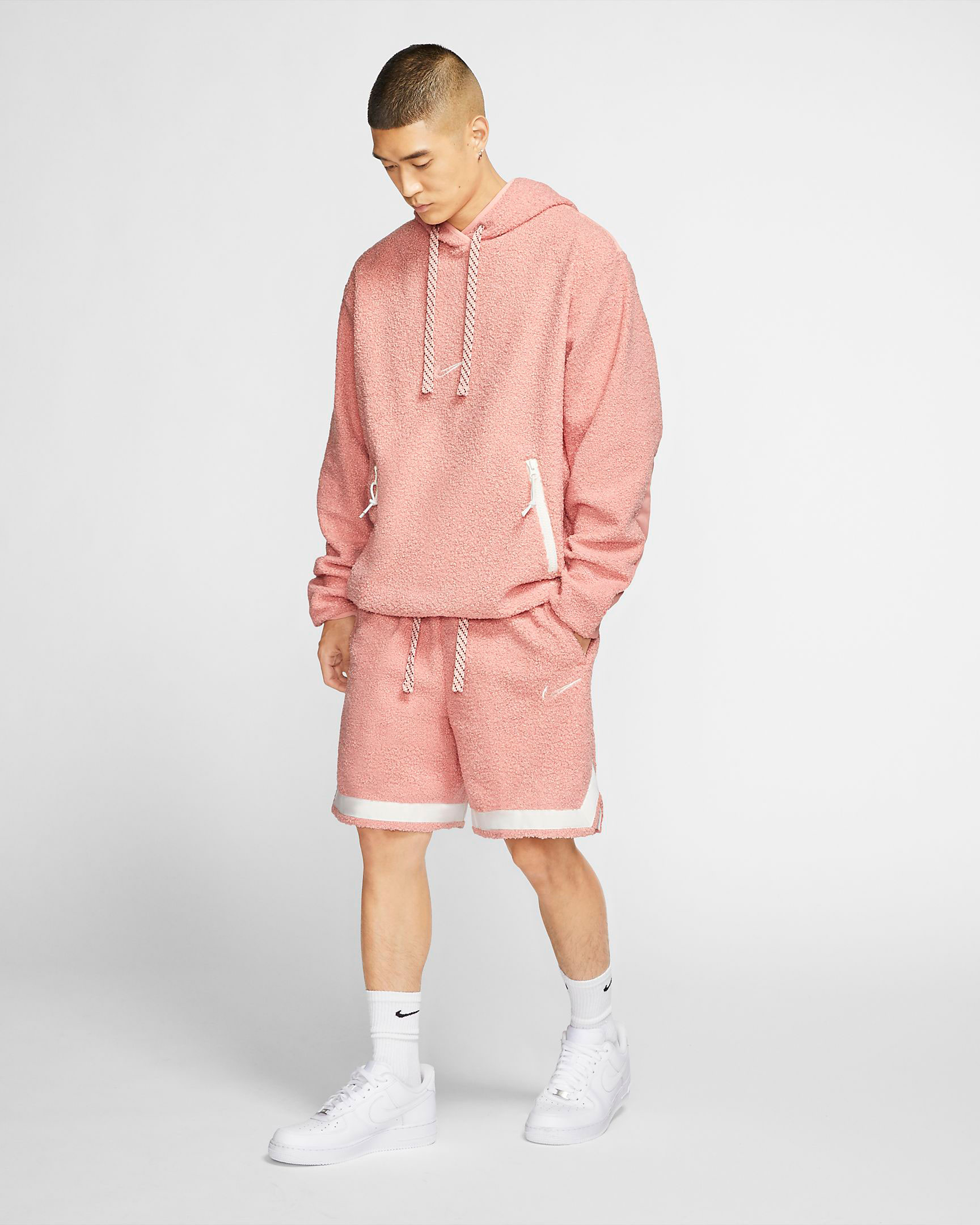 nike-pink-cozy-basketball-hoodie-and-shorts