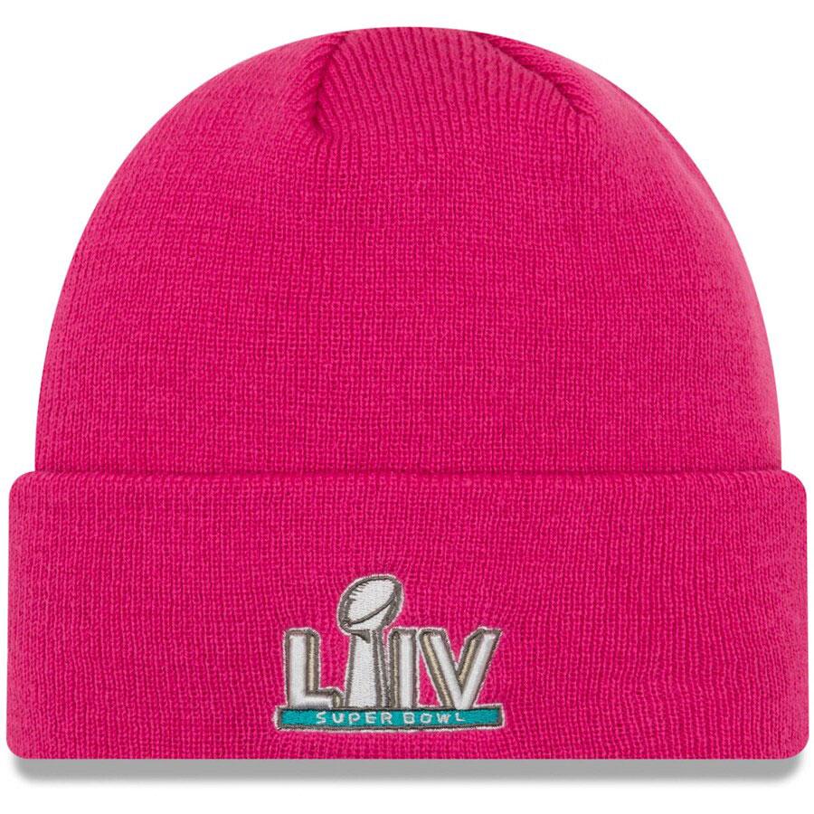 super-bowl-liv-new-era-pink-knit-hat-beanie-1