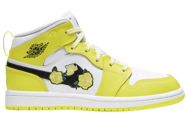 air-jordan-1-mid-yellow-floral-flower-preschool