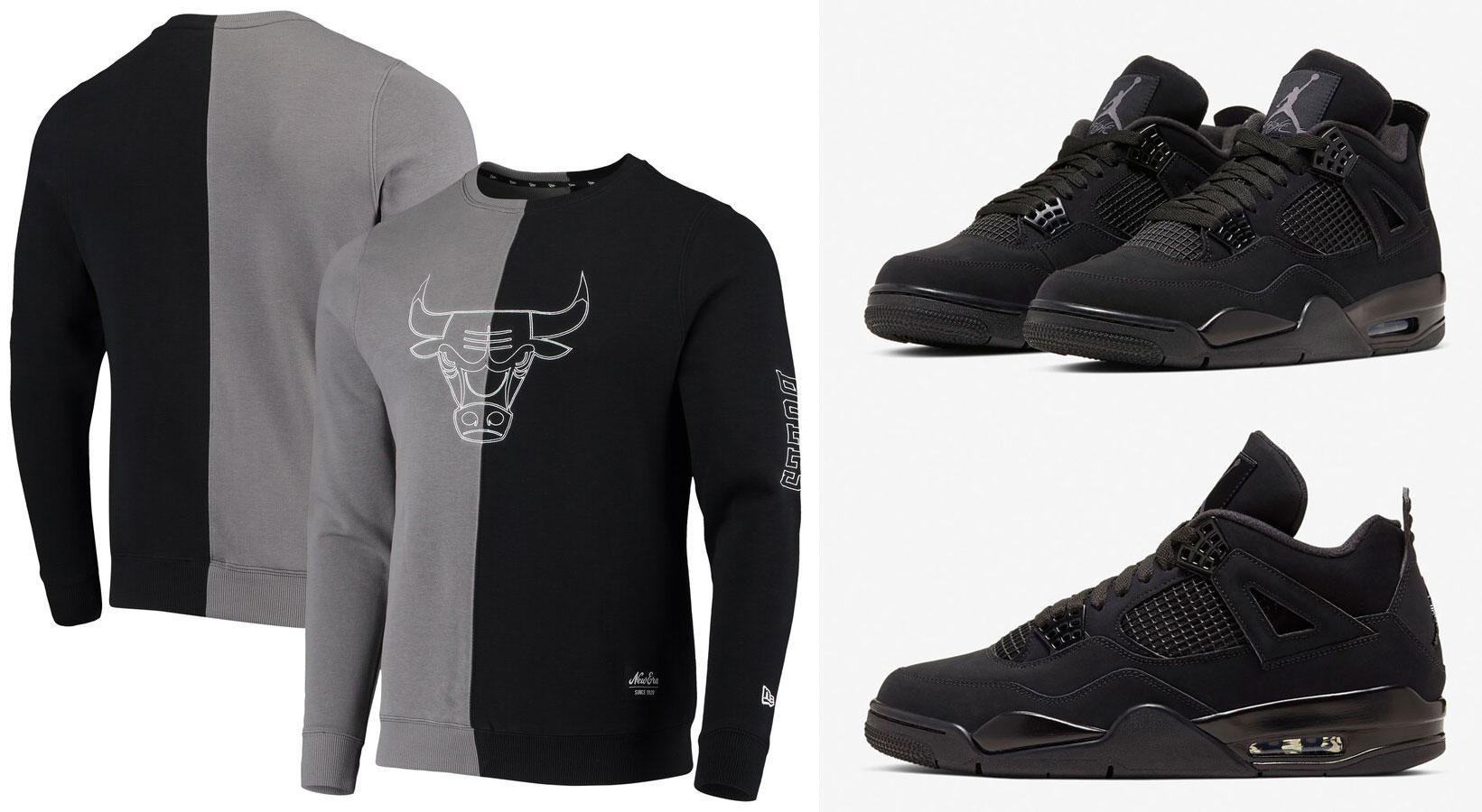 air-jordan-4-black-cat-bulls-new-era-sweatshirt
