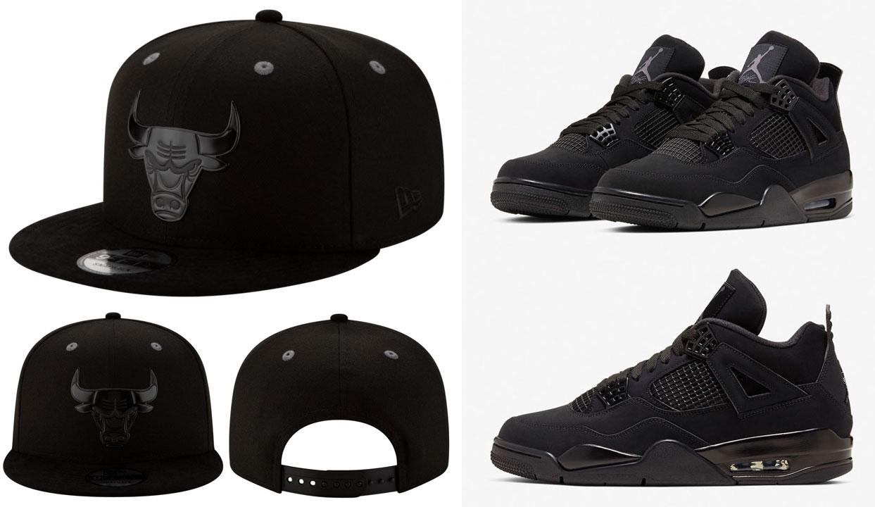 air-jordan-4-black-cat-new-era-snapback-hat