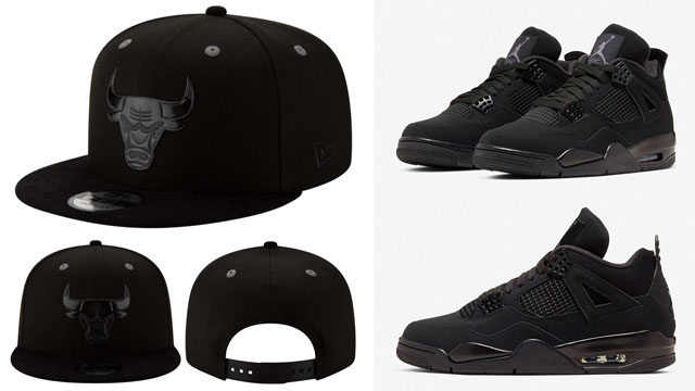 black-cat-jordan-4-new-era-snapback-cap