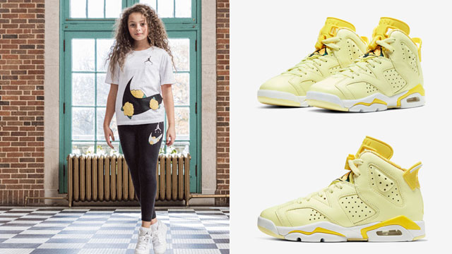 citron-tint-jordan-6-floral-clothing-match