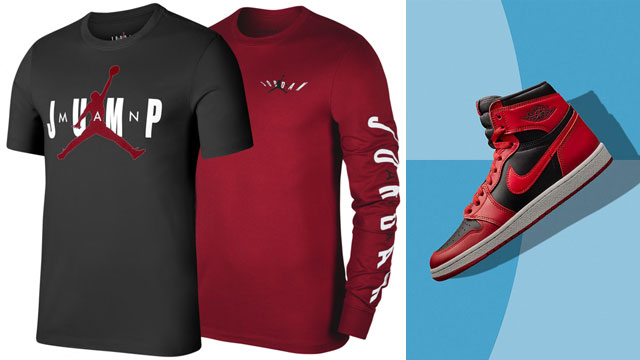 jordan-1-high-85-red-matching-shirts