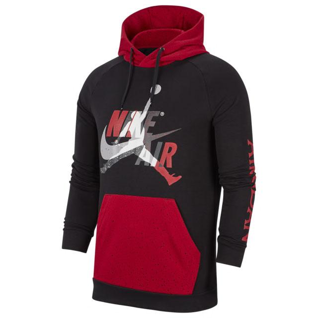 jordan-jumpman-classics-hoodie-black-red-silver
