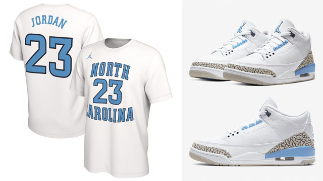 air-jordan-3-unc-michael-jordan-shirt-match