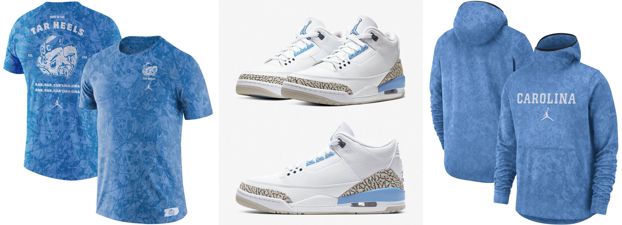 air-jordan-3-unc-tar-heels-clothing