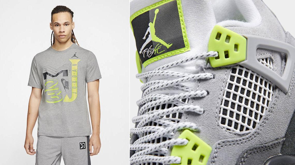 Jordan 4 Neon Air Max 95 Matching Shirt Sneakerfits Com