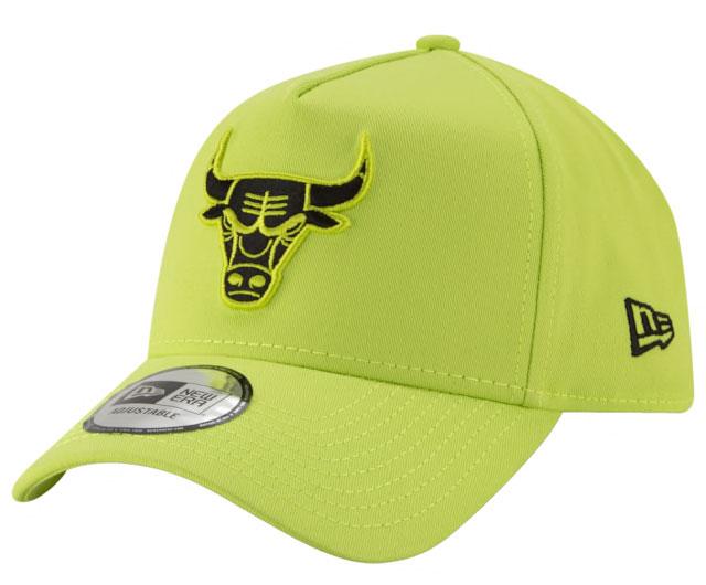 air-jordan-4-neon-bulls-hat-match-2