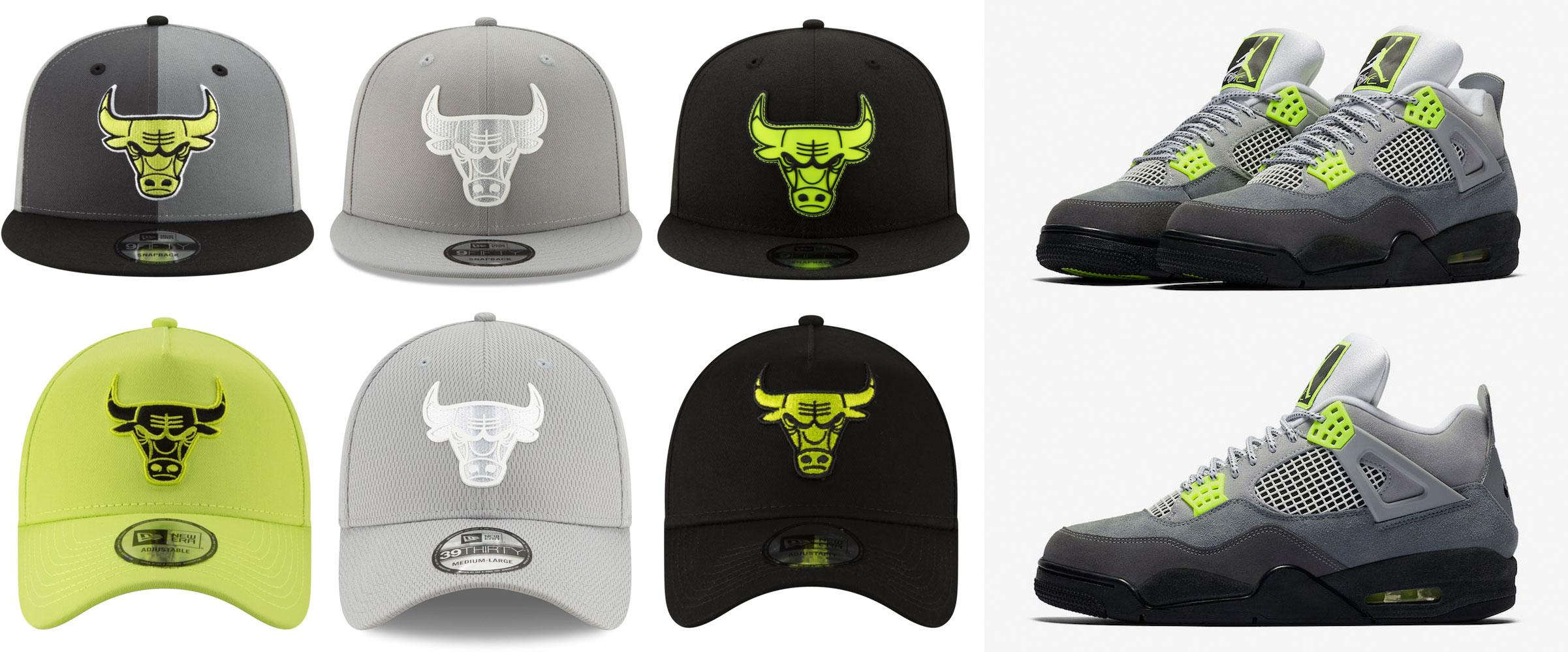 air-jordan-4-neon-bulls-hats
