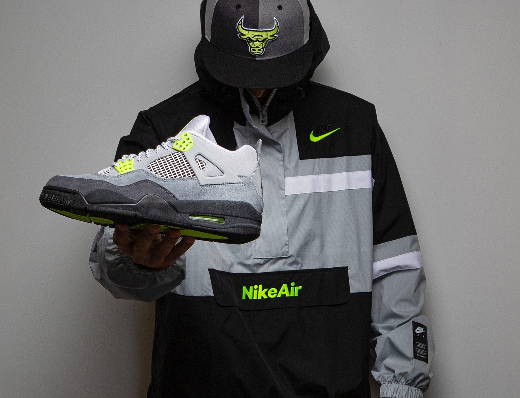 air-jordan-4-neon-hat-jacket-outfit-match
