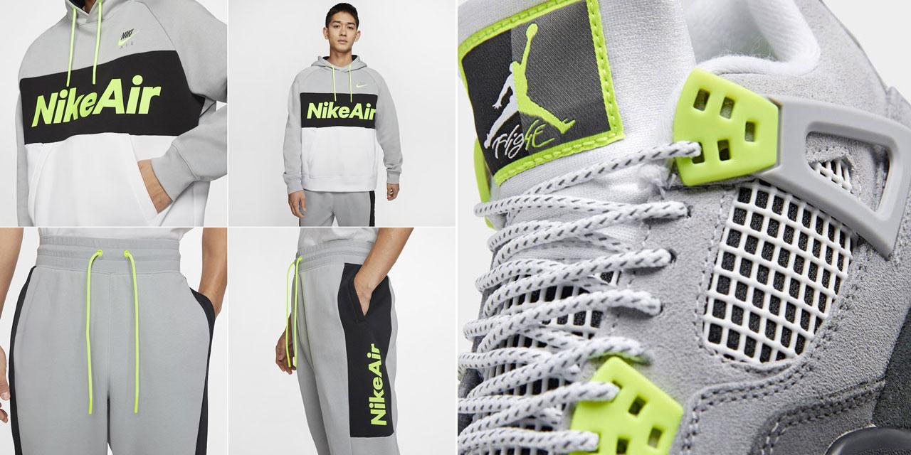 air-jordan-4-neon-nike-air-95-hoodie-jogger-pants-match
