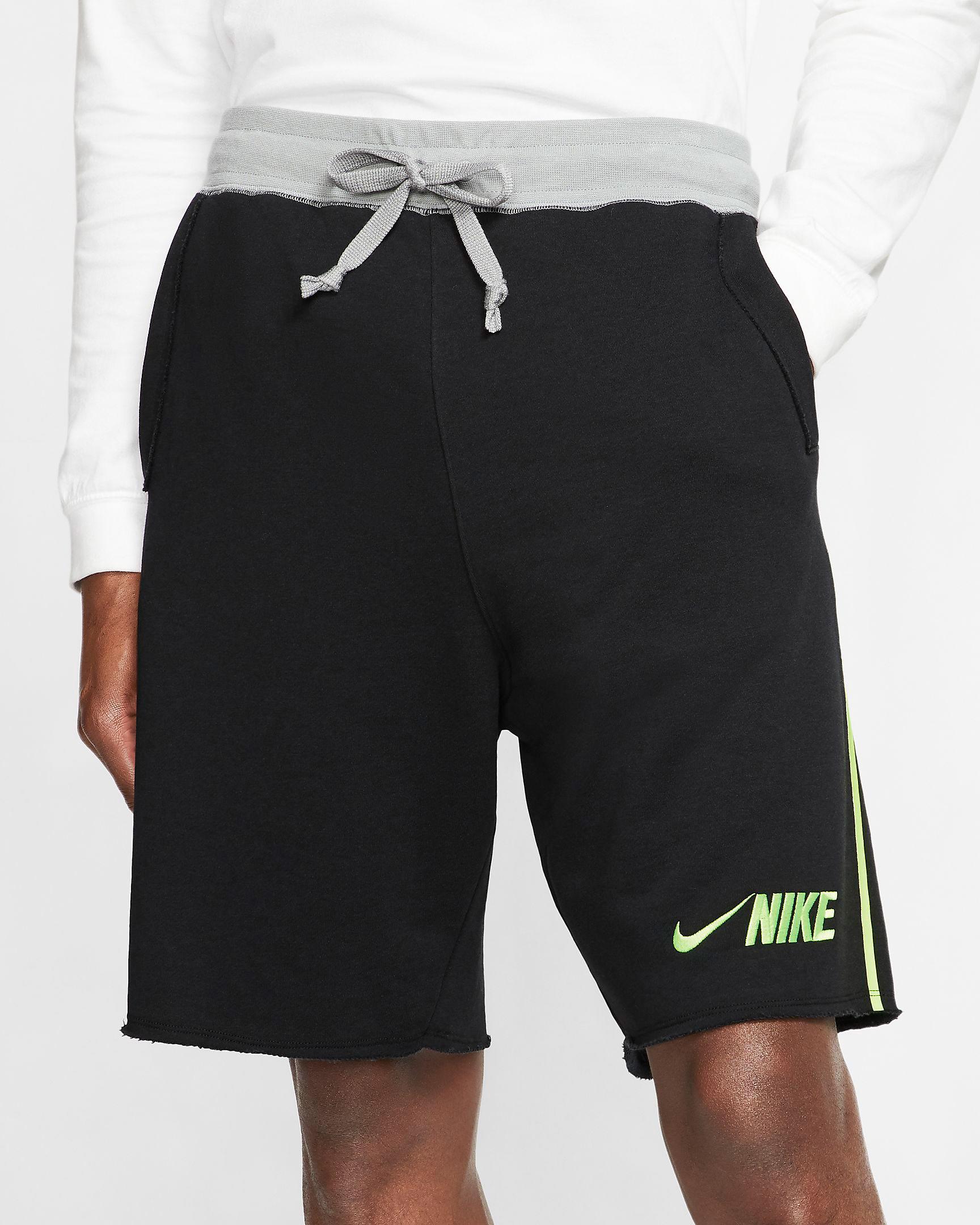 air-jordan-4-neon-nike-black-volt-shorts-1
