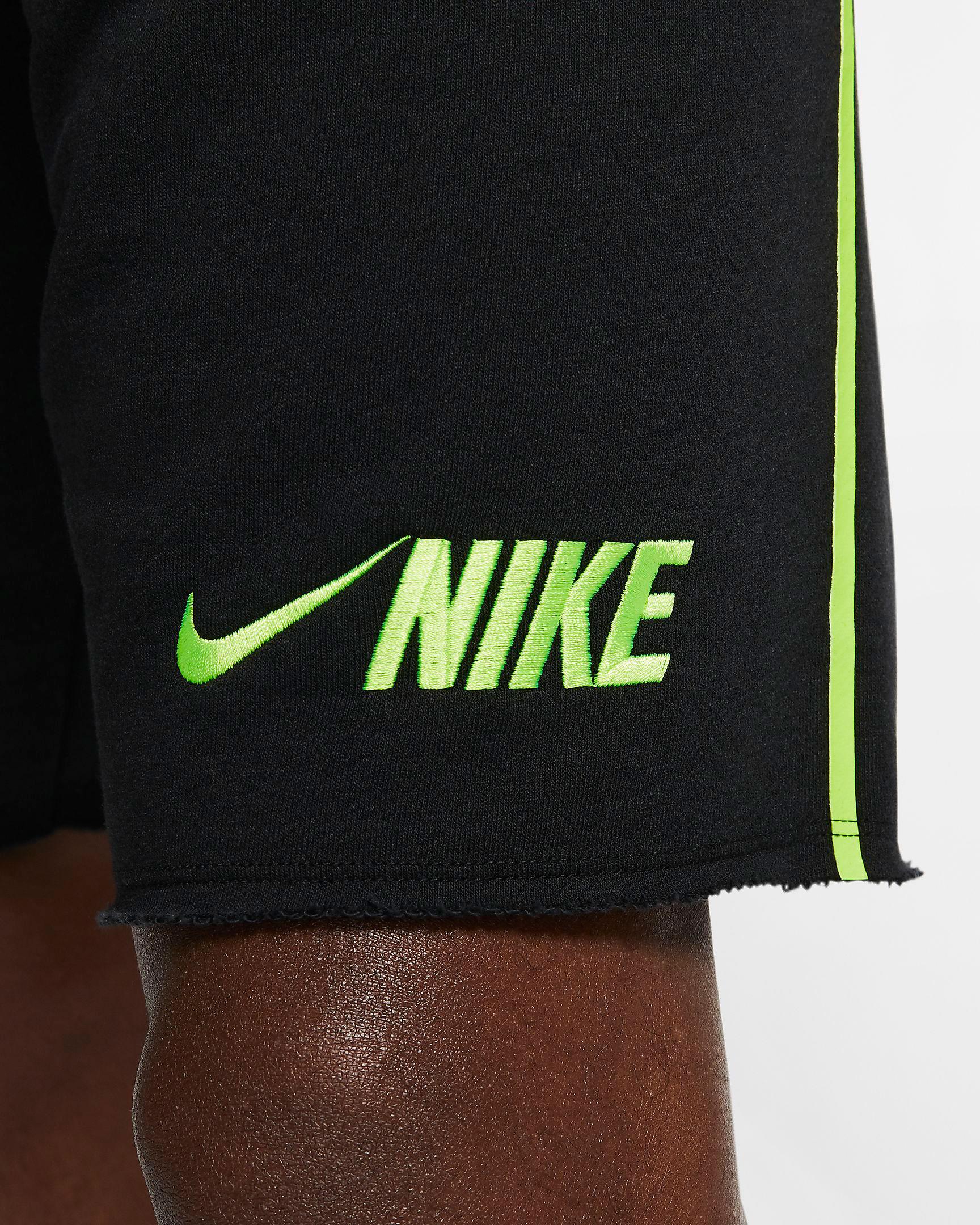 air-jordan-4-neon-nike-black-volt-shorts-4