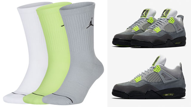 air-jordan-4-neon-socks