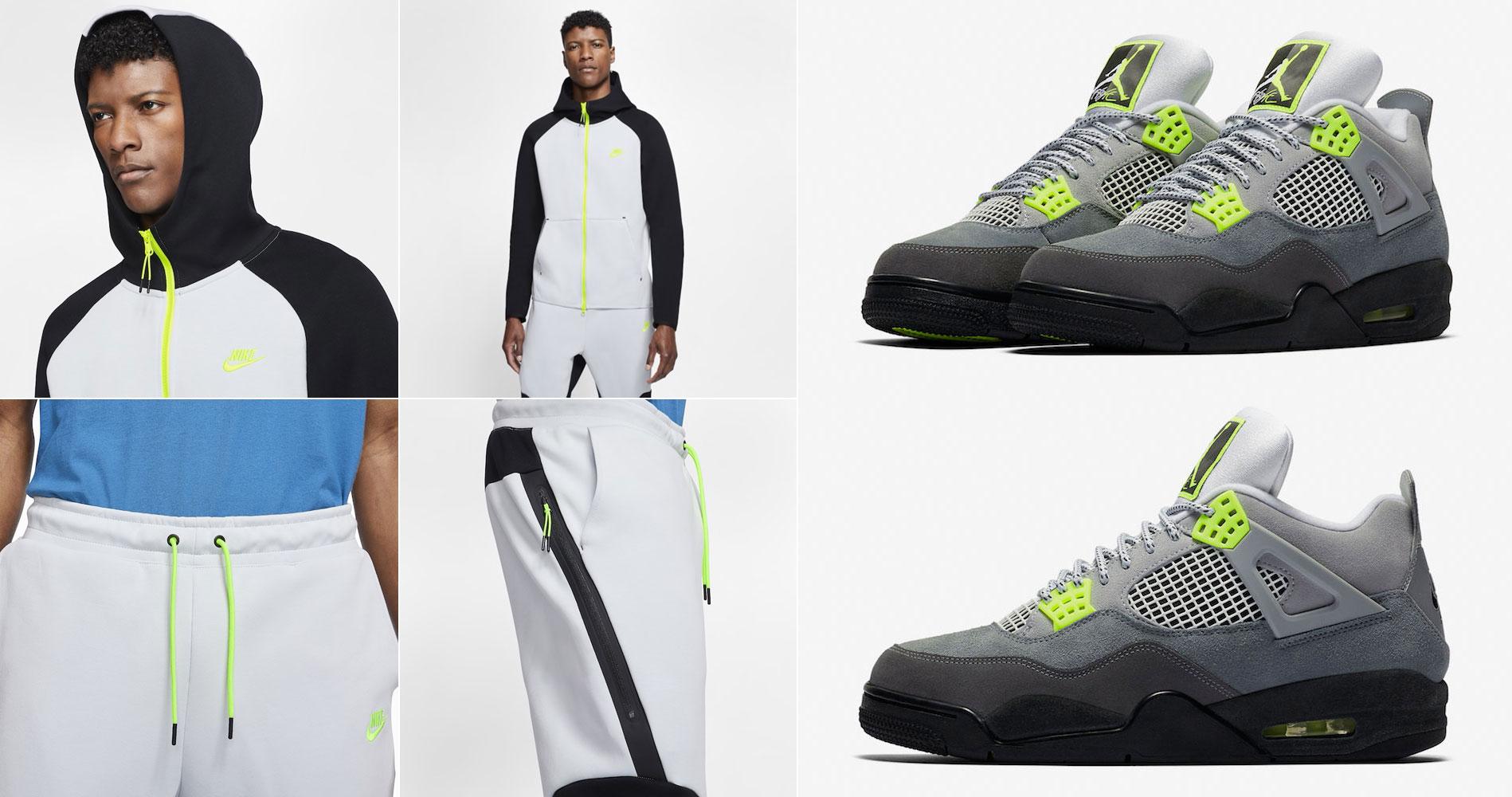 air-jordan-4-neon-volt-nike-hoodie-jogger-pants