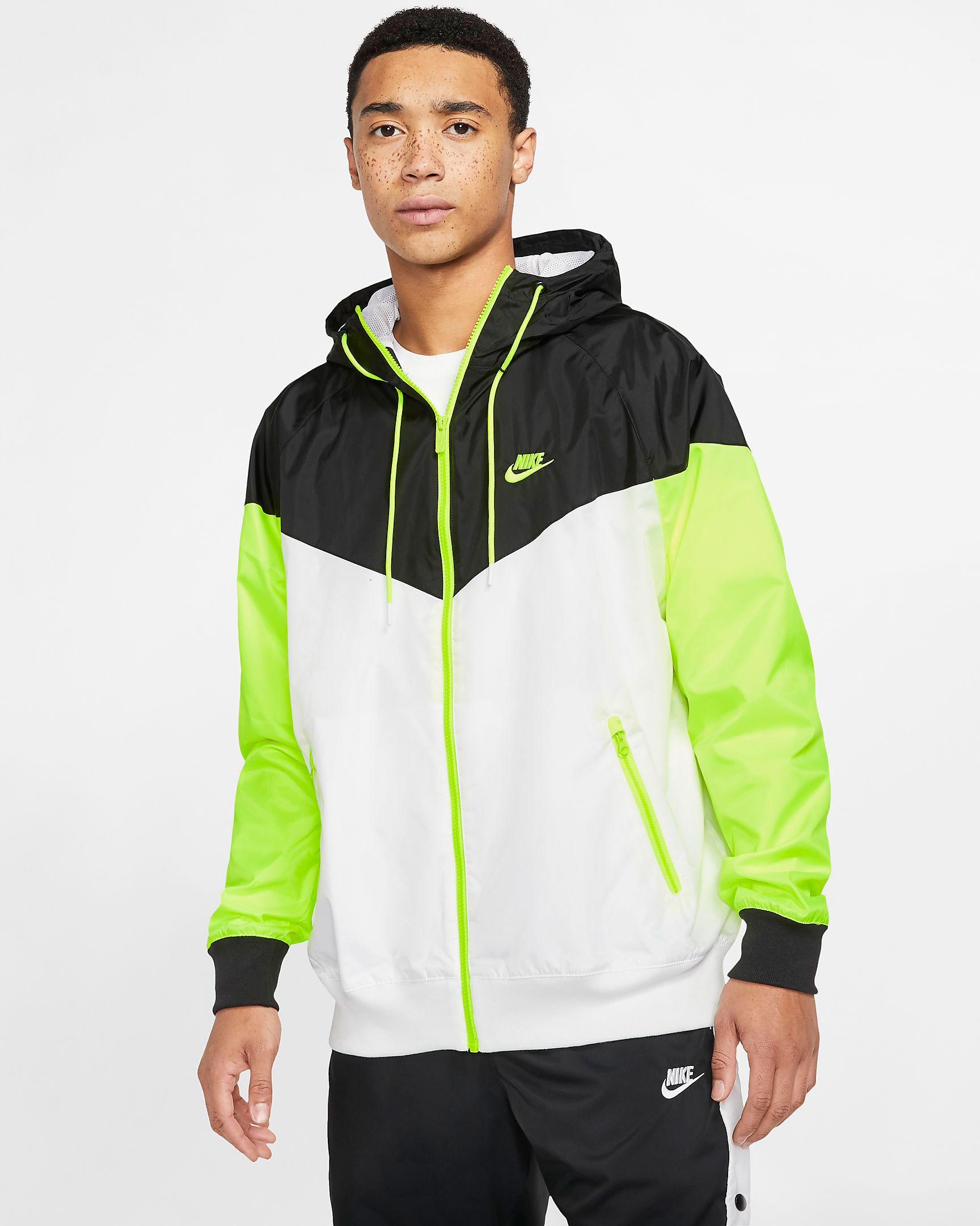 air-jordan-4-neon-volt-nike-jacket-match-1