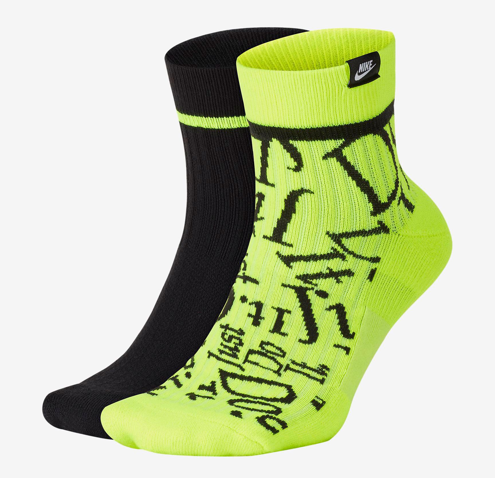 air-jordan-4-neon-volt-nike-socks