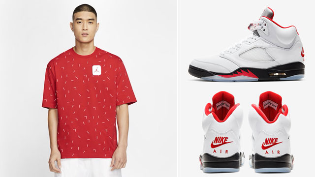 air-jordan-5-fire-red-2020-3m-silver-tongue-reflective-tee