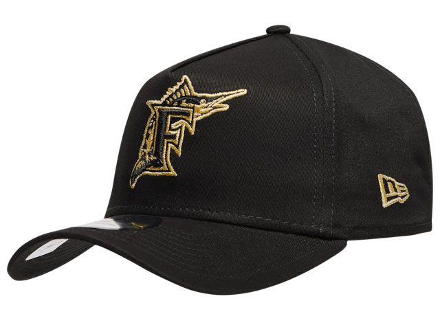 dmp-jordan-6-black-gold-new-era-marlins-hat