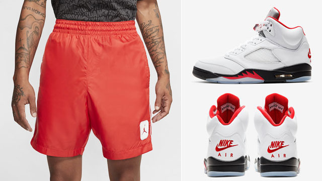 fire-red-air-jordan-5-2020-shorts