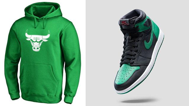 jordan-1-pine-green-bulls-hoodie