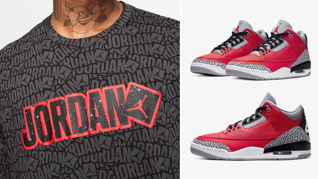 jordan-3-red-cement-matching-tees