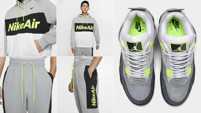 jordan-4-neon-nike-hoodie-jogger-pants
