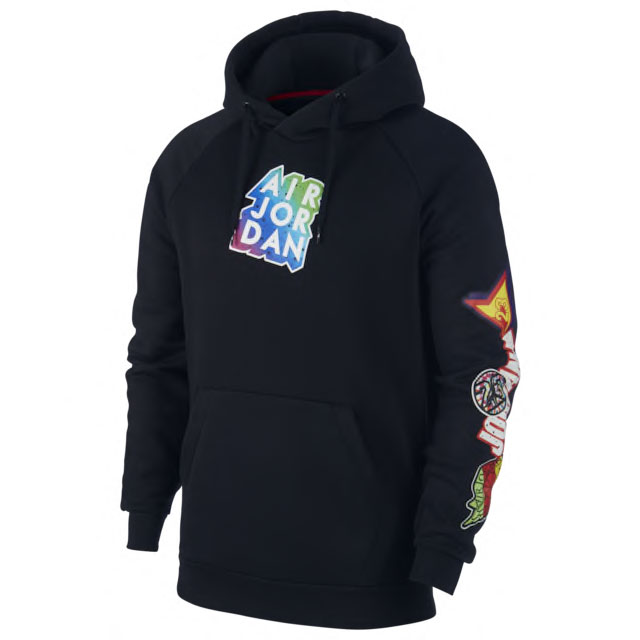 jordan-sticker-hoodie-black