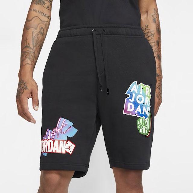 jordan-sticker-shorts-black