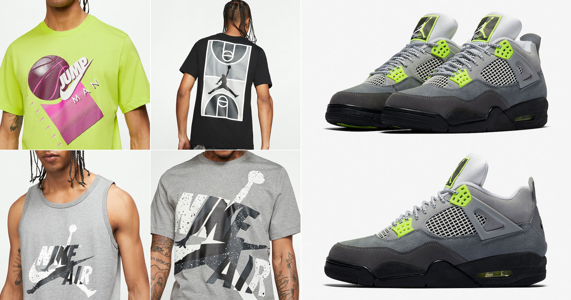 neon-air-jordan-4-air-max-95-tees-and-tank-tops