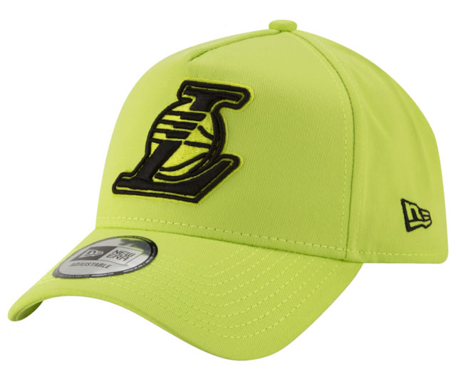 new-era-volt-green-nba-snapback-hat-lakers
