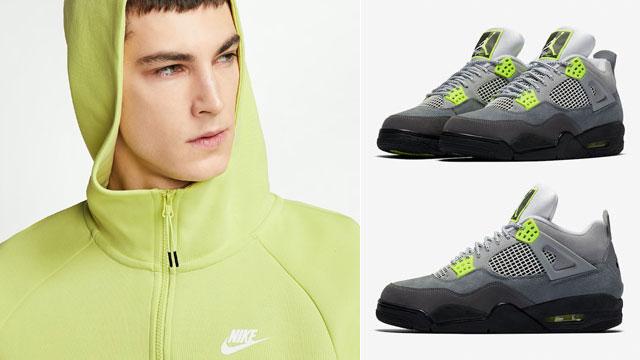 nike-air-jordan-4-neon-nike-hoodie-match
