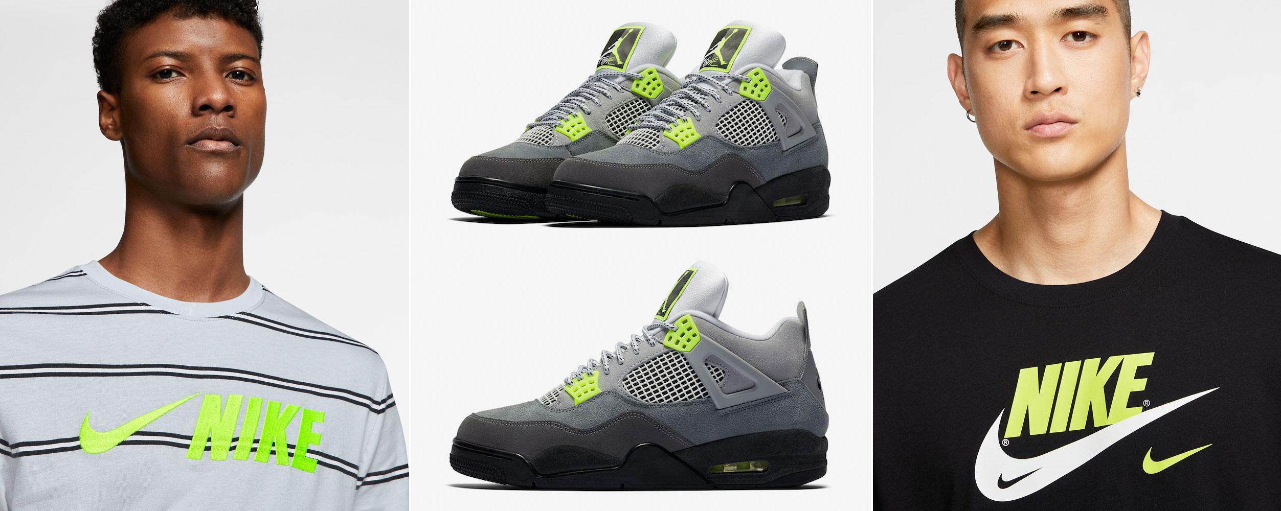 Air Jordan 4 Neon Volt Nike Shirts Sneakerfits Com