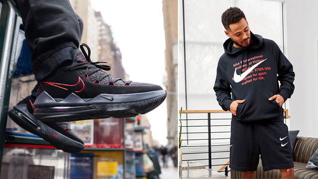 nike-lebron-17-low-black-red-outfits