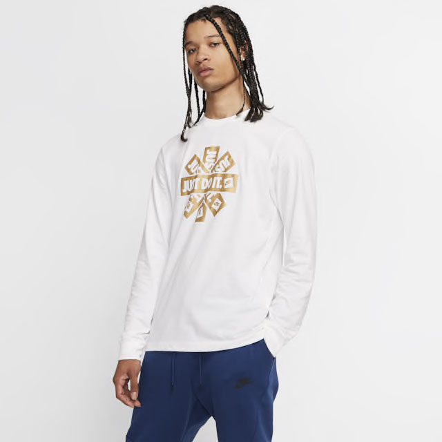 nike-long-sleeve-shirt-white-metallic-gold