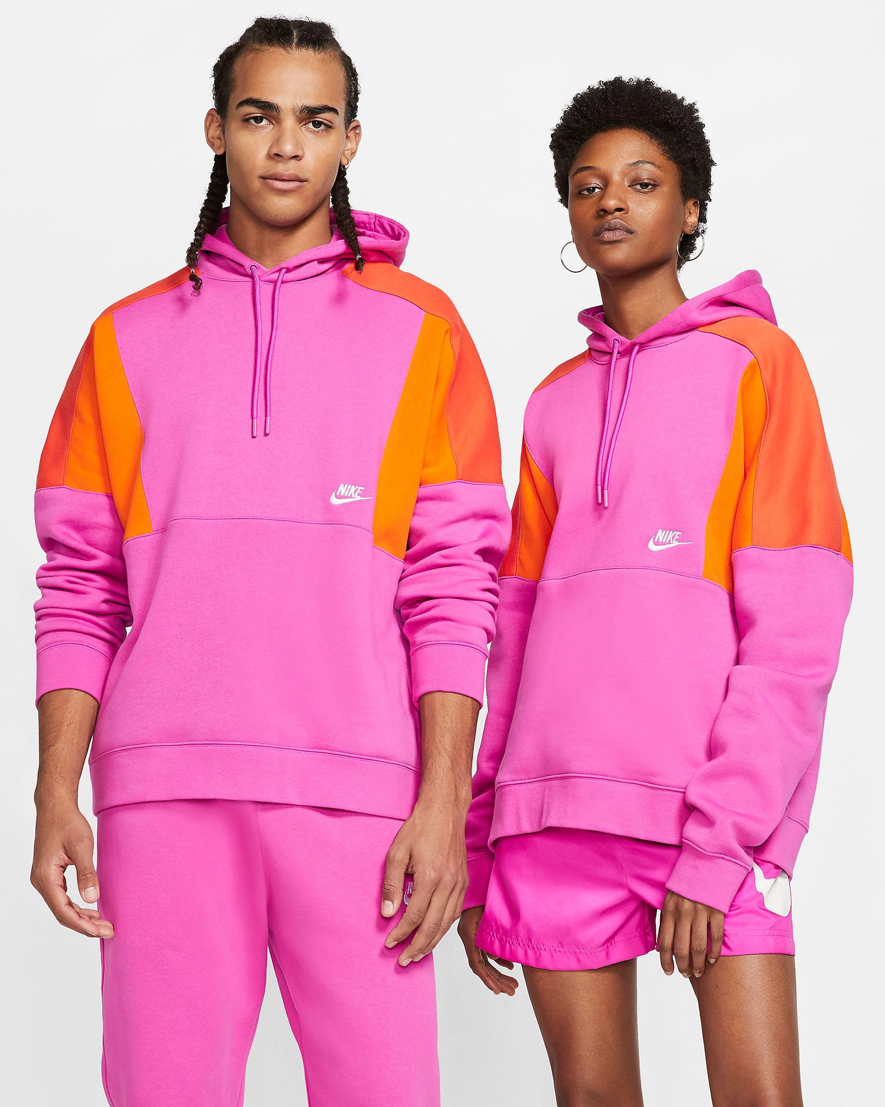 nike-sportswear-orange-pink-fuschia-hoodie
