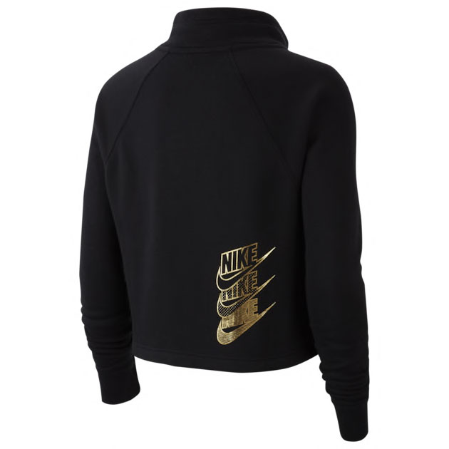 nike-womens-hoodie-black-metallic-gold-2